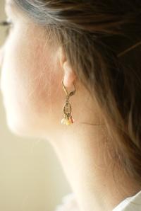 boucles d'oreille pêche
