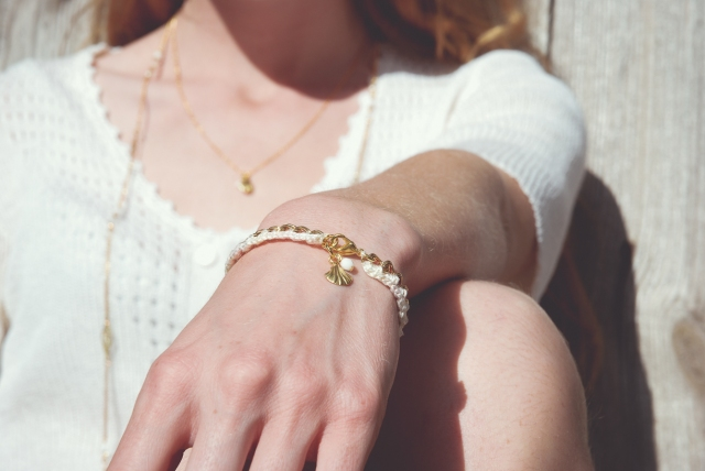 bracelet ombré blanc-1