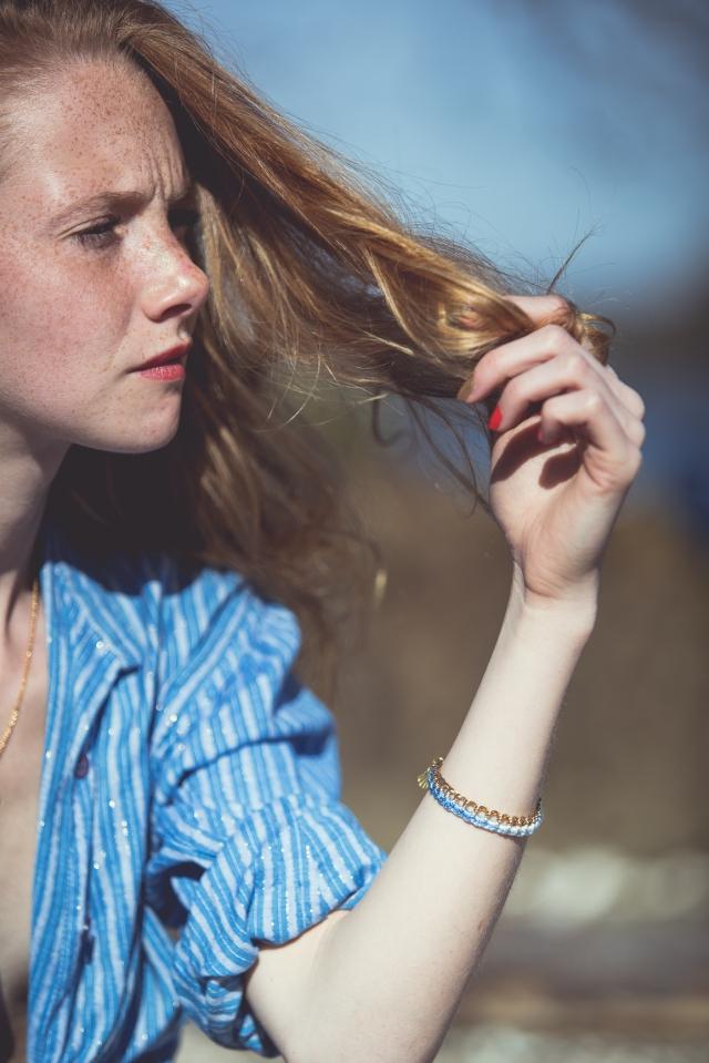 bracelet ombré bleu-5