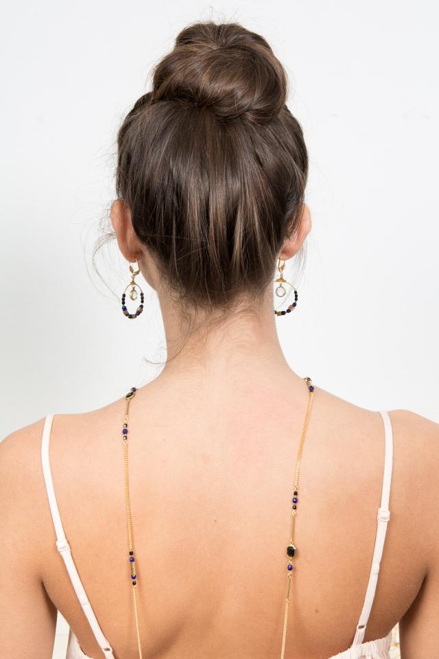 bijoux bleu noir sautoir-13