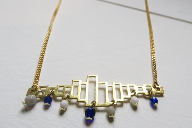 bijoux bleu blanc gris-17