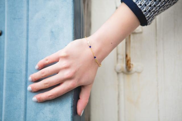 Bracelet fin bleu-2