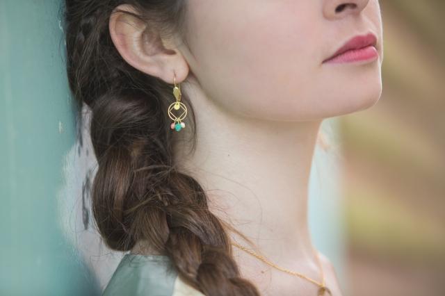 boucles d'oreilles pastel